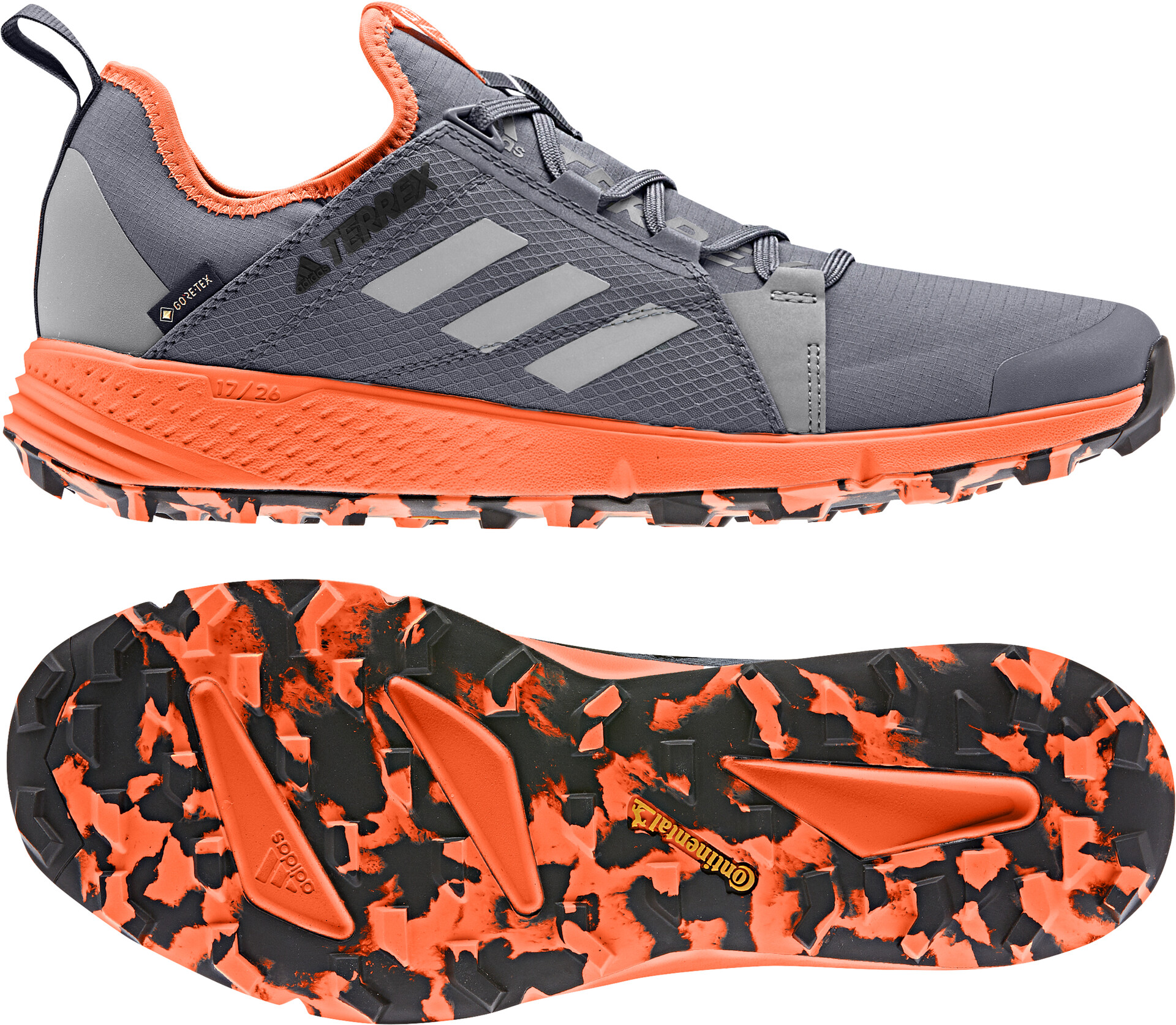 adidas TERREX Agravic Speed GTX Chaussures Homme, onixgrey twosolar orange